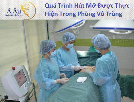 Hình ảnh quy trình hút mỡ mông tài bệnh viện á âu