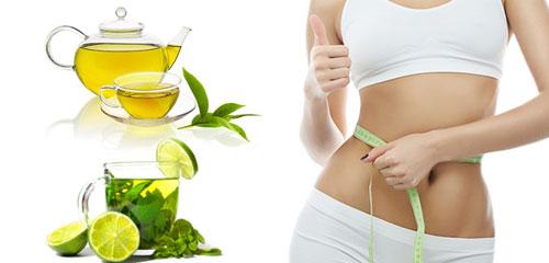 Uống trà xanh giảm béo bụng